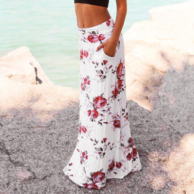 Boho White Long Skirt Chic finely tailored