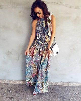 Sleeveless Boho Long Dress 2020
