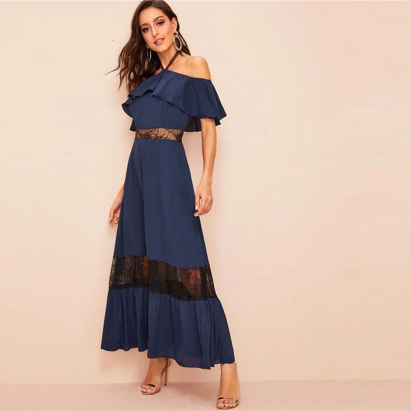 Boho Long Dress Br Shoulder Denudee best