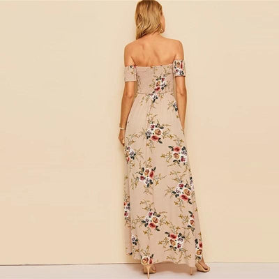 Boho Long Cream Dress style