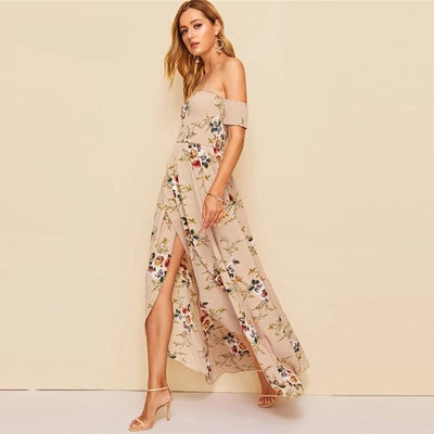 Boho Long Cream Dress best
