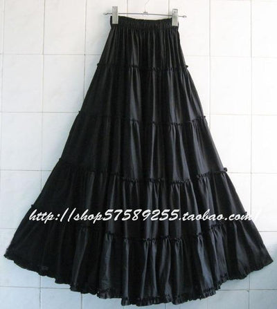 Boho Long Skirt In Pleated Chiffon 2020