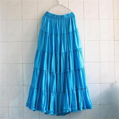 Boho Long Skirt In Pleated Chiffon finely tailored