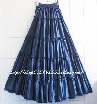 Boho Long Skirt In Pleated Chiffon