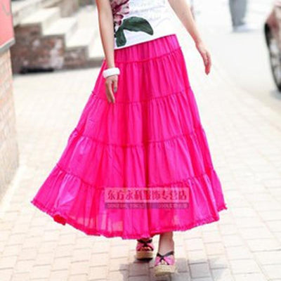 Boho Long Skirt In Pleated Chiffon cheap