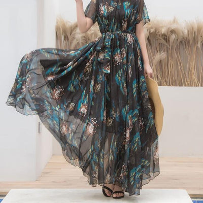 Very Long Boho Dress low price