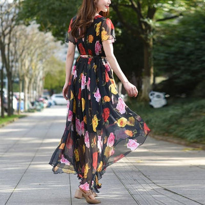 Very Long Boho Dress finely tailored
