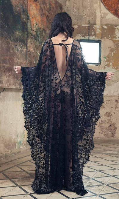 Boho Long Dress In Transparent Lace style