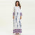 White Hippie Chic Long Dress women