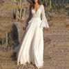 Long Boho Dress White Lace trendy