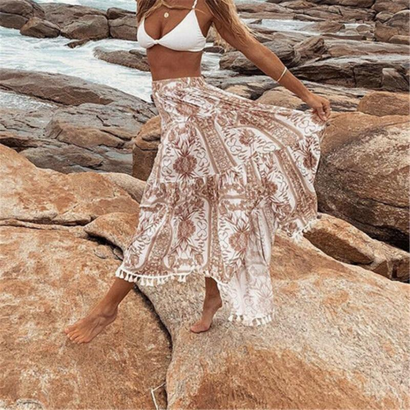 Boho Long Skirt Frills 2020