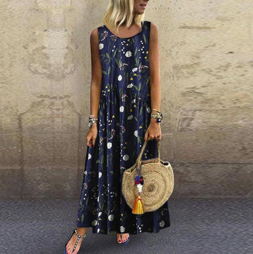 Long Boho Dress In Chiffon chaming