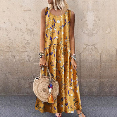 Long Boho Dress In Chiffon style