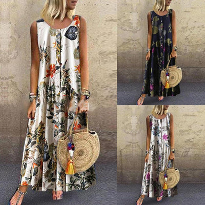 Long Boho Dress In Chiffon 2019