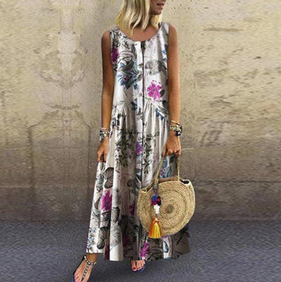 Long Boho Dress In Chiffon bohemian