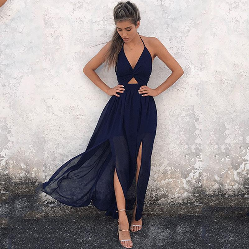 Boho Wedding Dress Navy Blue Cocktail Chic luxury