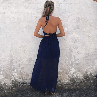 Boho Wedding Dress Navy Blue Cocktail Chic cute