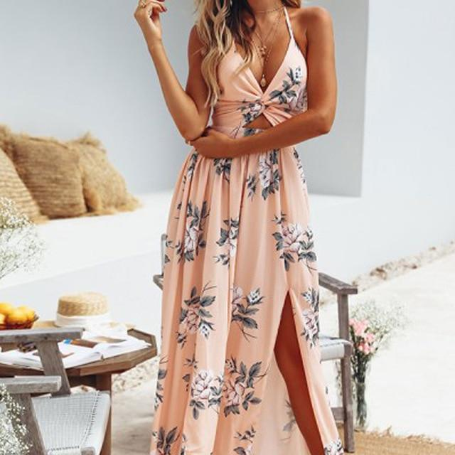Boho Wedding Dress Powder Pink hippie