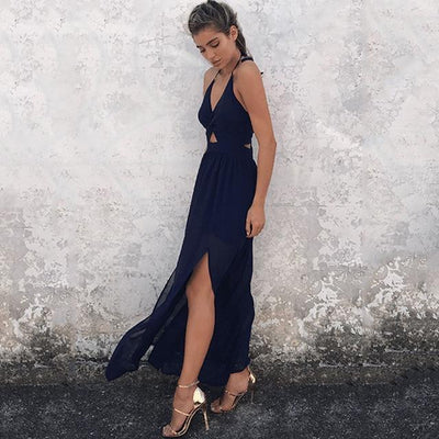 Boho Wedding Dress Navy Blue Cocktail Chic