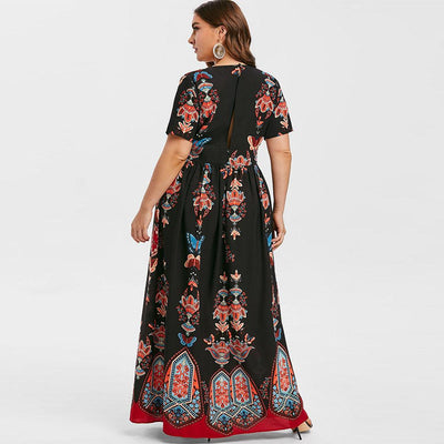 Boho Chic Long Dress Large Size finely tailored