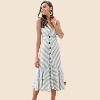 Cheap Hippie Chic White Dress 2020