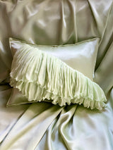 MINT CORAL ECO-CUSHION - ALEEM YUSUF