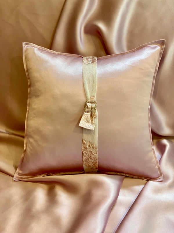 PINK SATIN ECO-CUSHION - ALEEM YUSUF