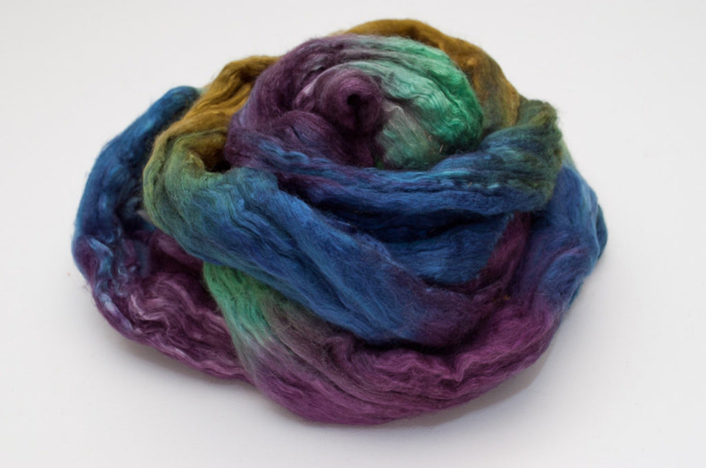 Bombyx / Merino Combed Top 50/50 blend 2oz. colorway - Mermaid - $24.00