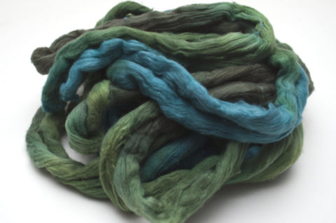 Cotton Carded Sliver 2oz. colorway - Evergreen - $24.00