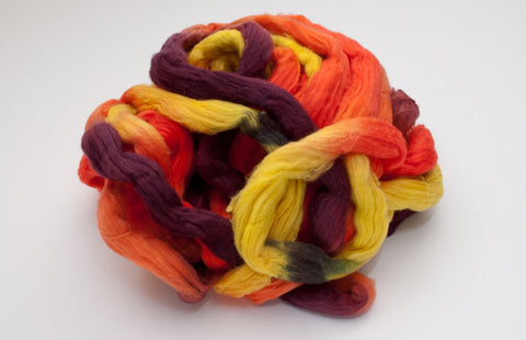 Cotton Carded Sliver 2oz. colorway - India - $24.00