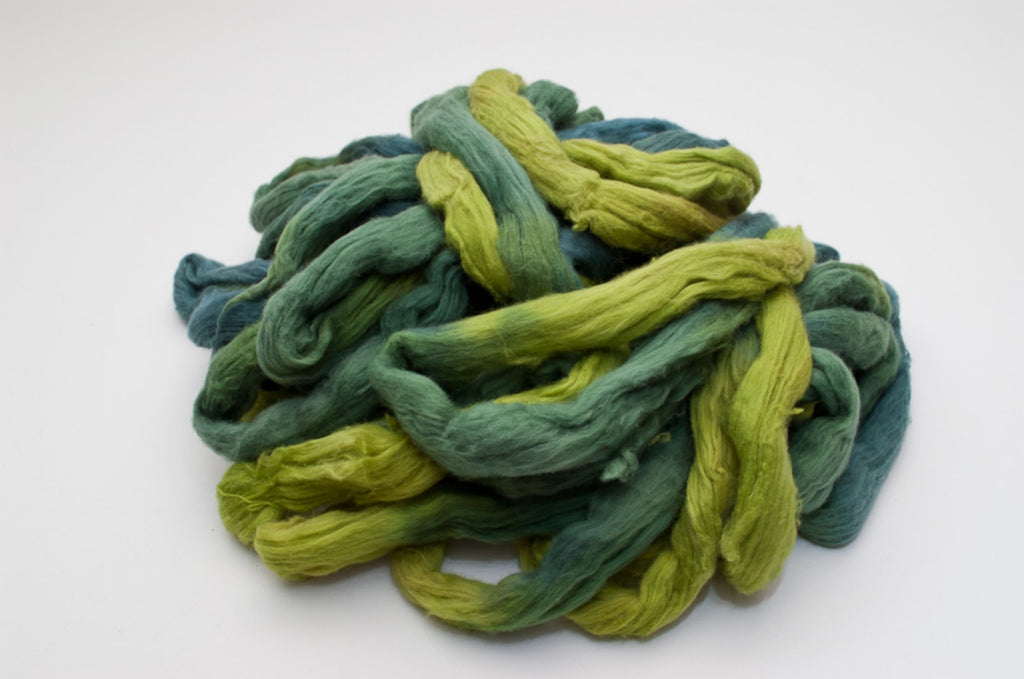 Cotton Carded Sliver 2oz. colorway - Kermit - $24.00