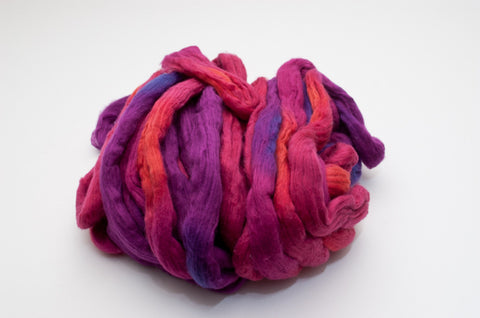 Cotton Carded Sliver 2oz. colorway - Morning Glory - $24.00