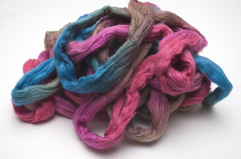 Cotton Carded Sliver 2oz. colorway - Tropical Sunset $24.00