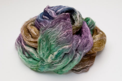 Bamboo / Merino Combed Top 50/50 blend 2oz. colorway - Mermaid - $18.50