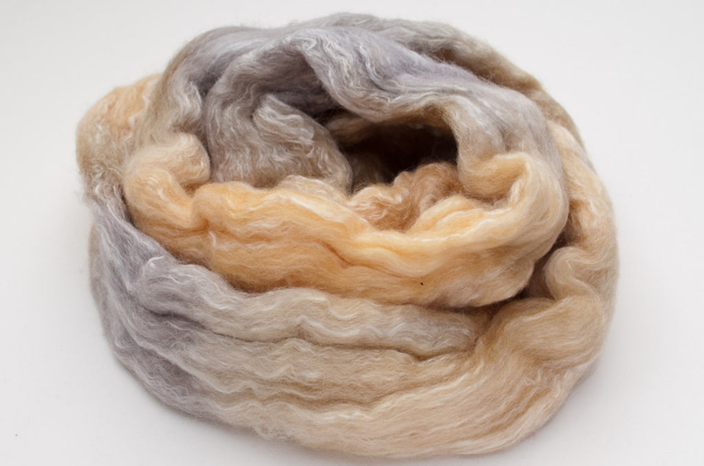 Bamboo / Merino Combed Top 50/50 blend 2oz. colorway - Mojave - $18.50