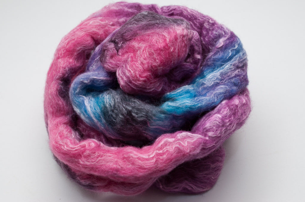 Bamboo / Merino Combed Top 50/50 blend 2oz. colorway - Scene Queen - $18.50