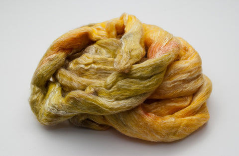 Bamboo / Merino Combed Top 50/50 blend 2oz. colorway - Spring Yellow - $18.50