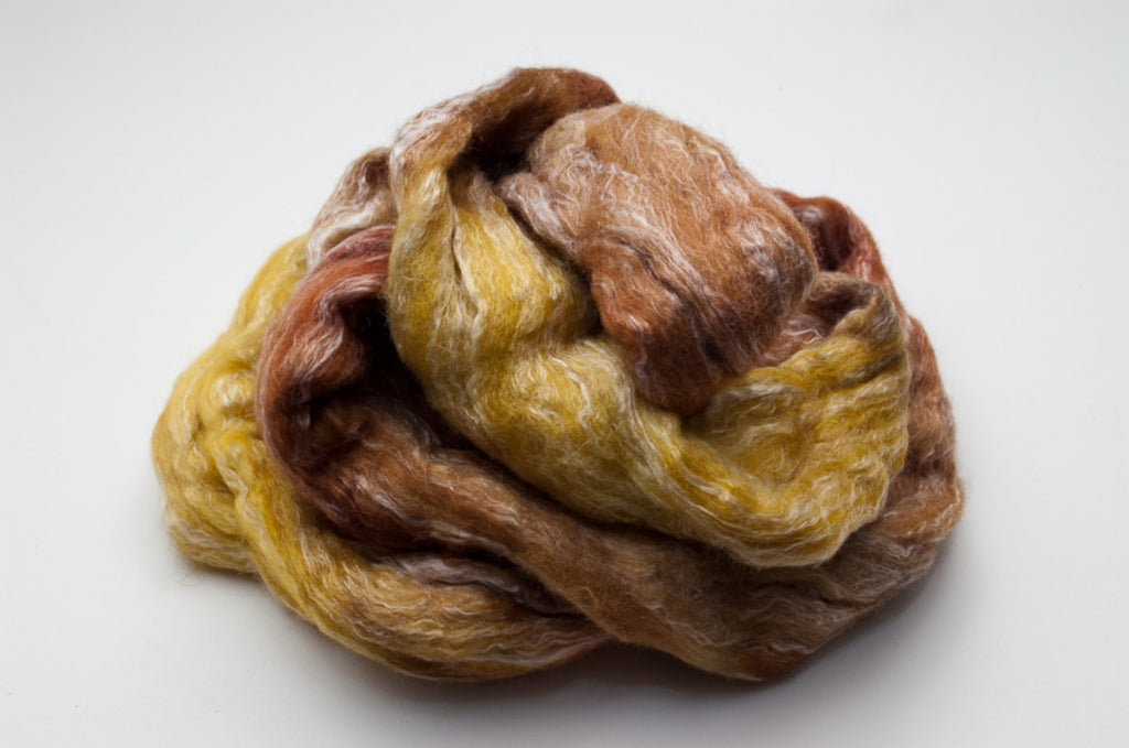 Bamboo / Merino Combed Top 50/50 blend 2oz. colorway - Wheat - $18.50
