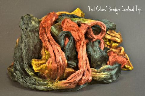 Bombyx  Combed Top 2oz. colorway - Fall Colors - $24.50