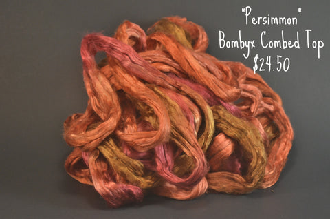 Bombyx  Combed Top 2oz. colorway - Persimmon - $24.50