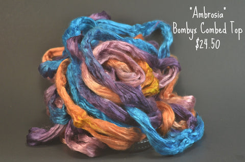 Bombyx  Combed Top 2oz. colorway - Ambrosia - $24.50