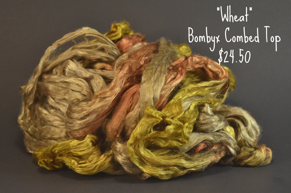 Bombyx  Combed Top 2oz. colorway -Wheat - $24.50