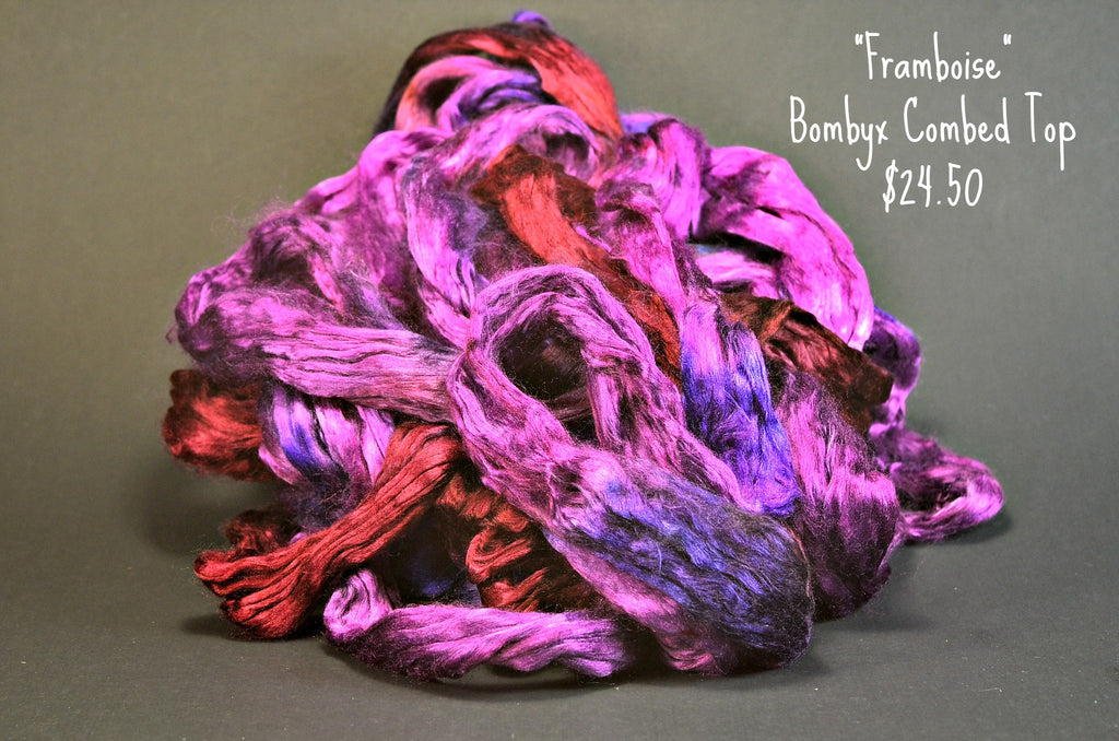 Bombyx  Combed Top 2oz. colorway - Framboise - $24.50