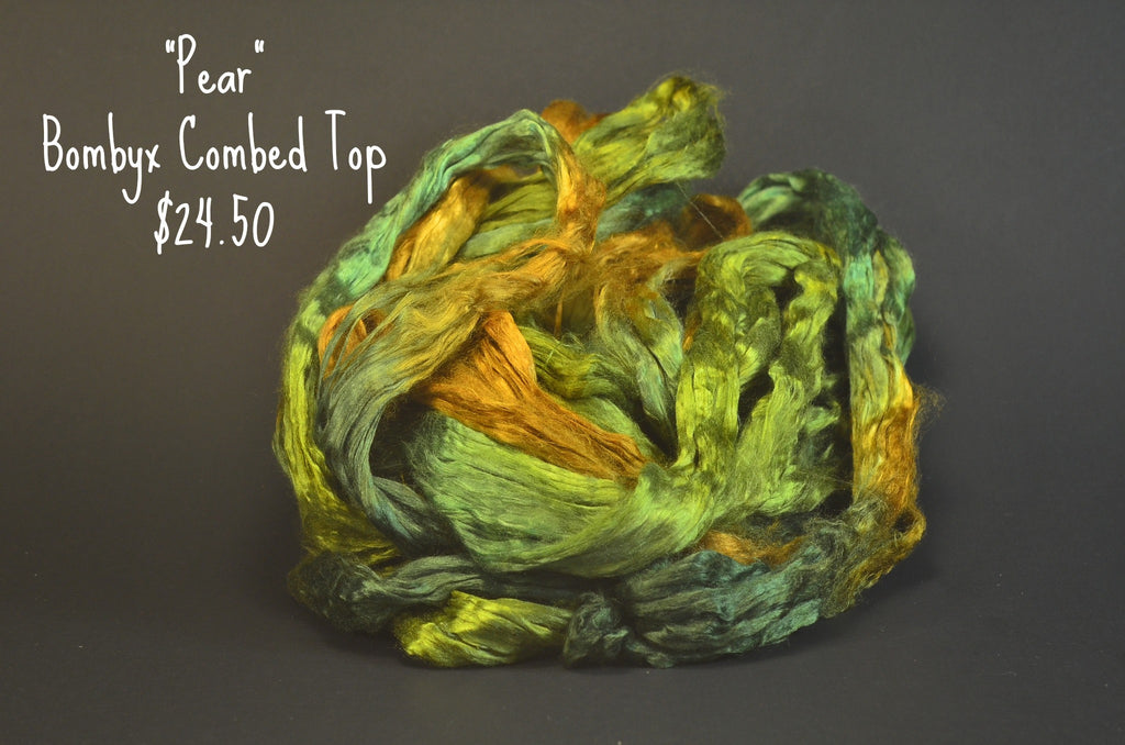 Bombyx  Combed Top 2oz. colorway - Pear - $24.50