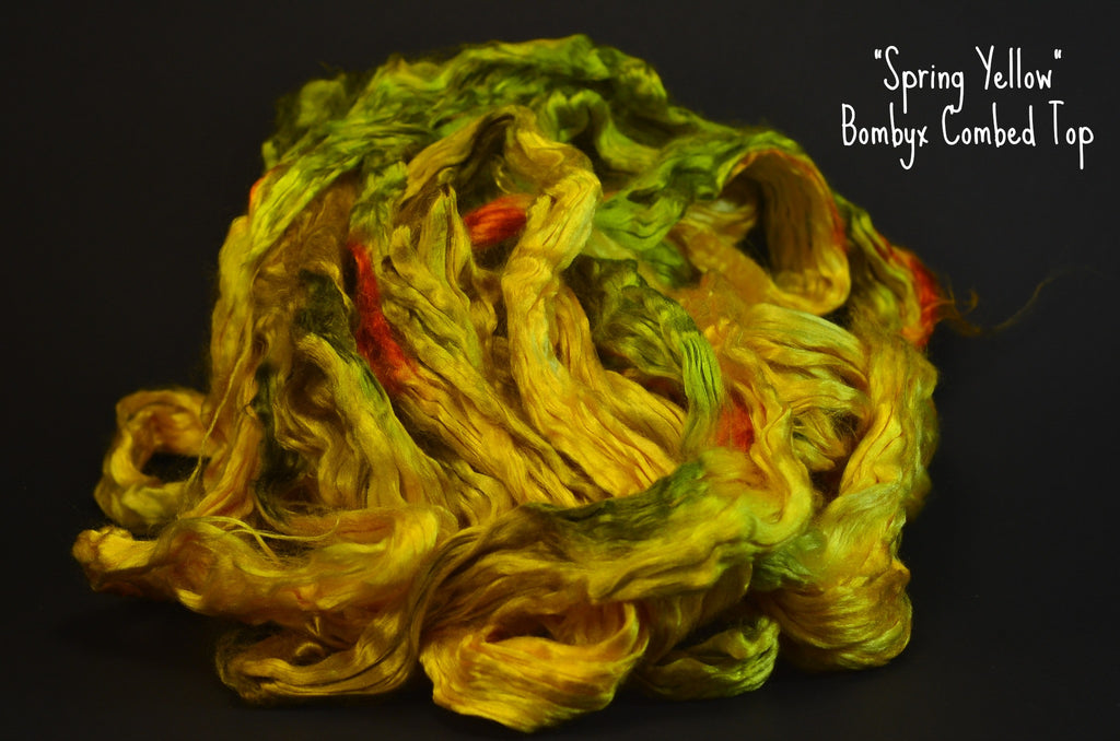 Bombyx  Combed Top 2oz. colorway - Spring Yellow - $24.50