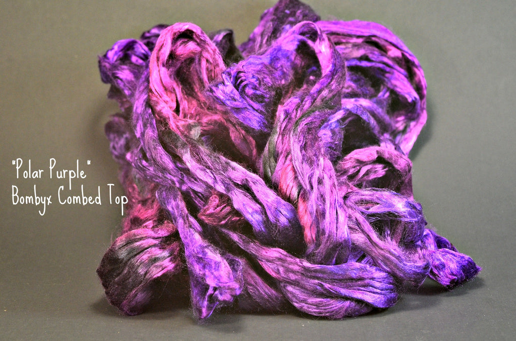 Bombyx  Combed Top 2oz. colorway - Polar Purple - $24.50