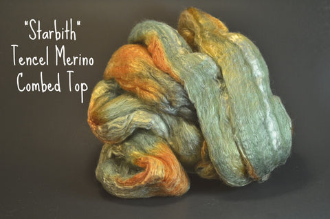 Tencel Merino Combed Top 50/50 blend 2oz. colorway - Starbirth $17.00