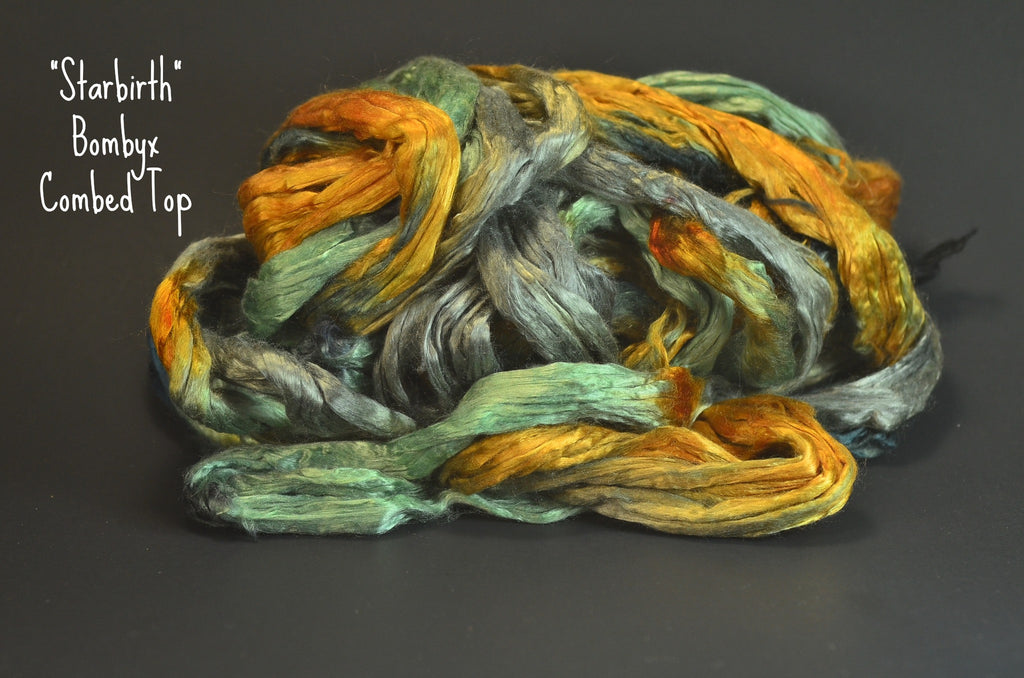 Bombyx  Combed Top 2oz. colorway -Starbirth - $24.50