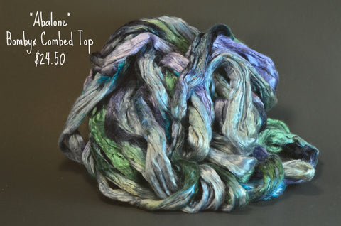Bombyx  Combed Top 2oz. colorway - Abalone - $24.50