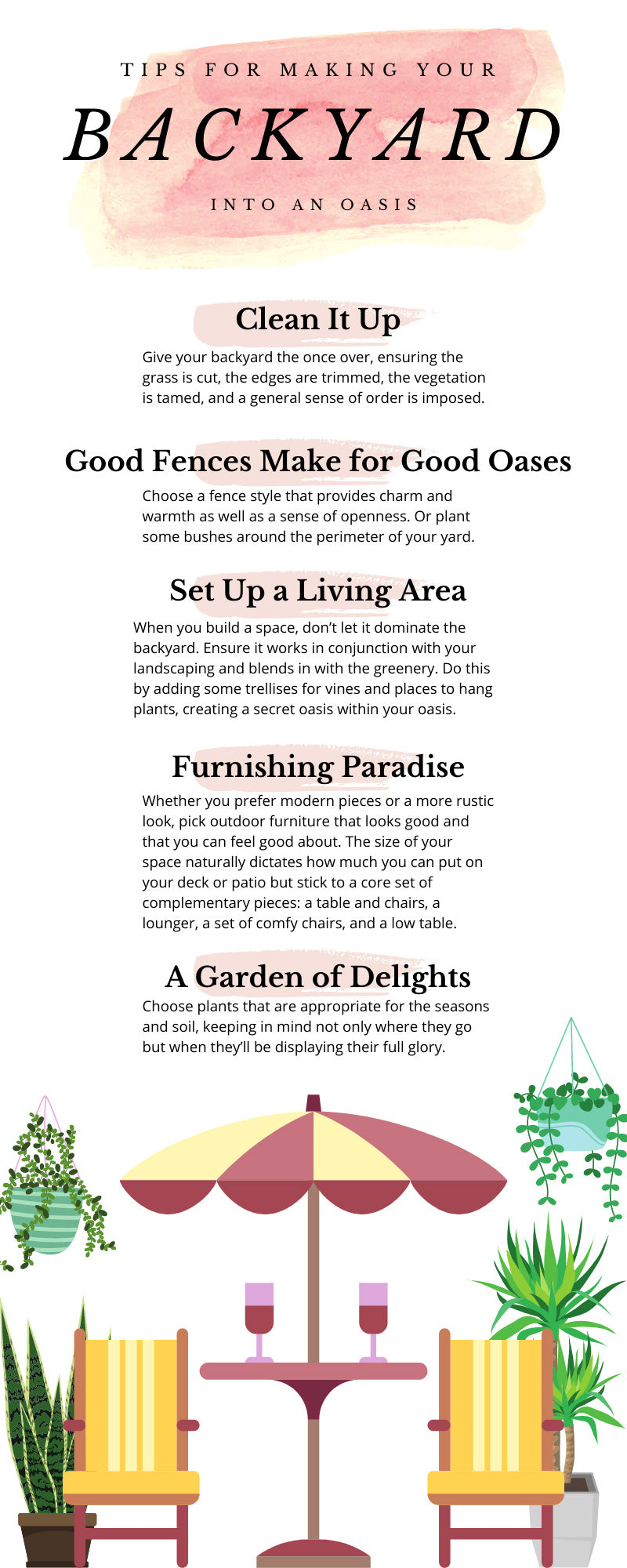 Tips for Making Your Backyard Into an Oasis
